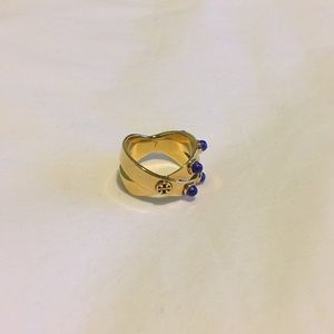 Tory Burch Jewelry - Crossed Style Ring with Stones Size 7